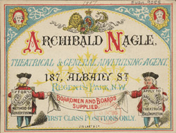 Advert For Archibald Neagle, Advertising Agent